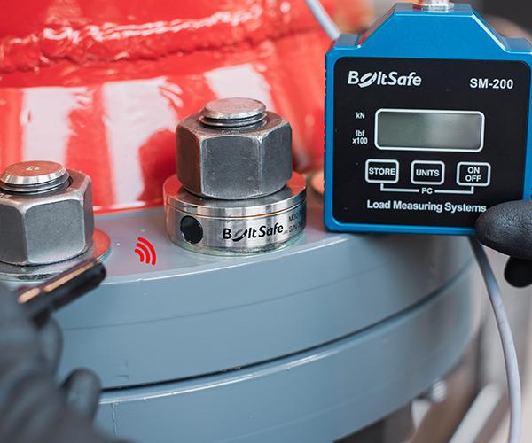 PMS bolt load sensor in use